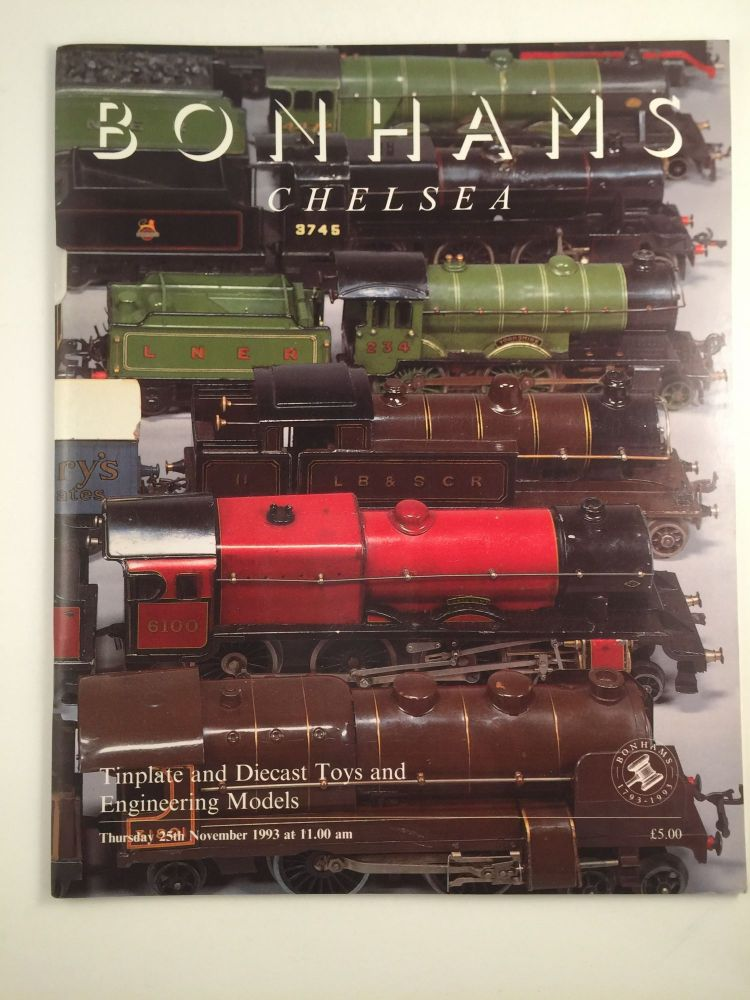 Tinplate and Diecast Toys and Engineering Models and Teddy Bears and Dolls. Nov. 25 London: Bonhams Chelsea, 1993.