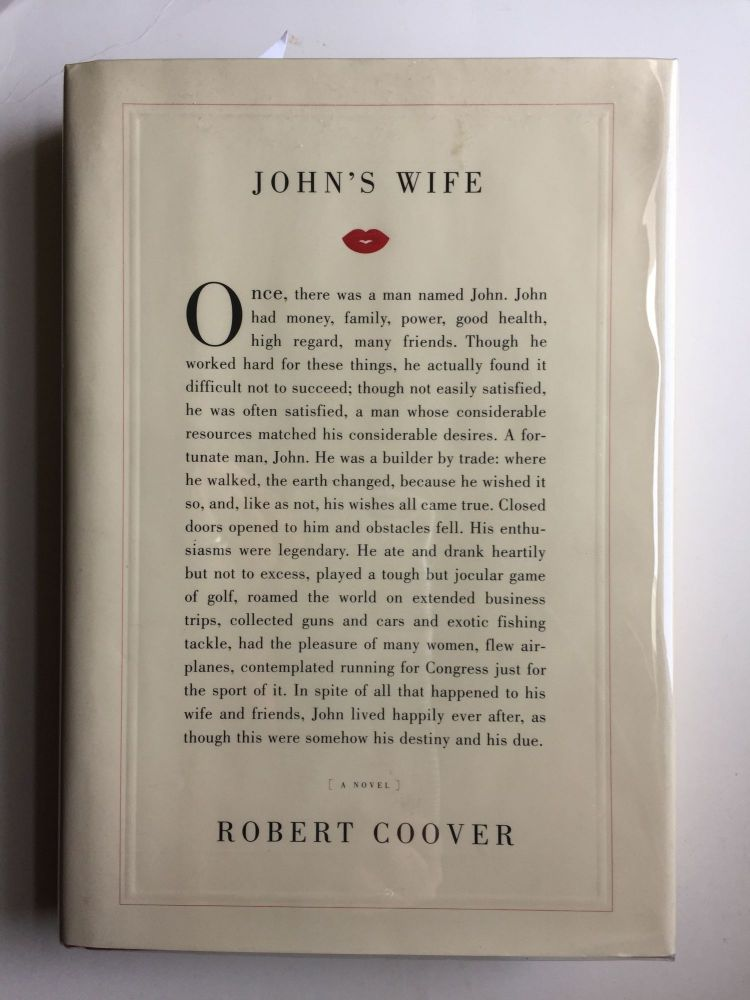 John's Wife (Signed). Robert Coover.