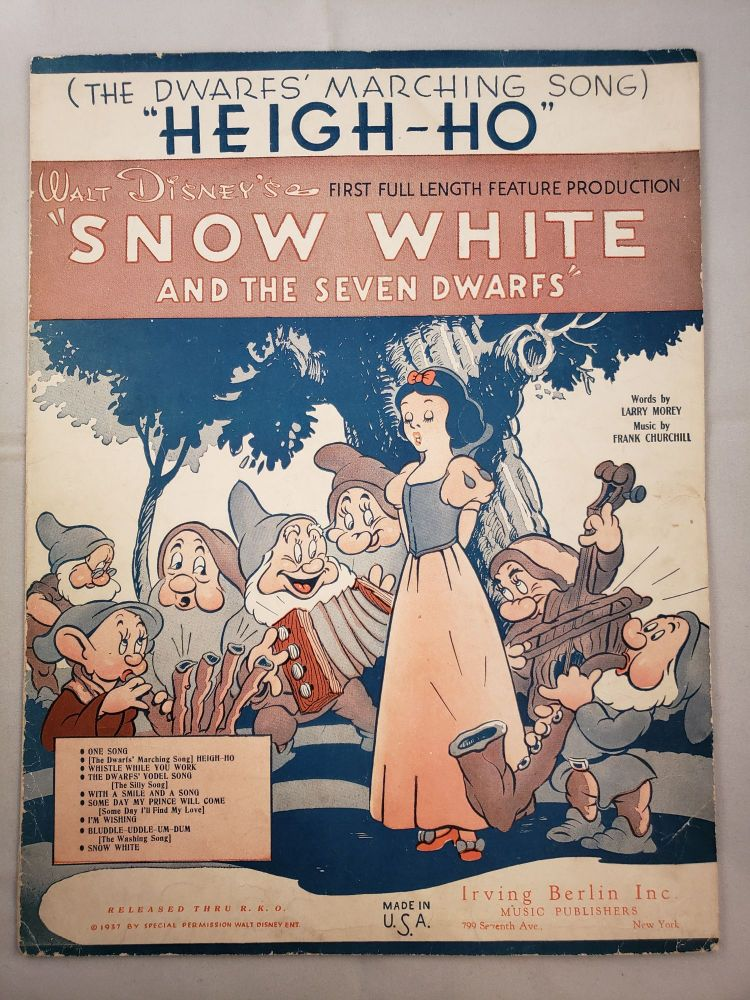 """""""Heigh-Ho"""" (The Dwarfs' Marching Song). Frank Churchill, Larry Morey."""