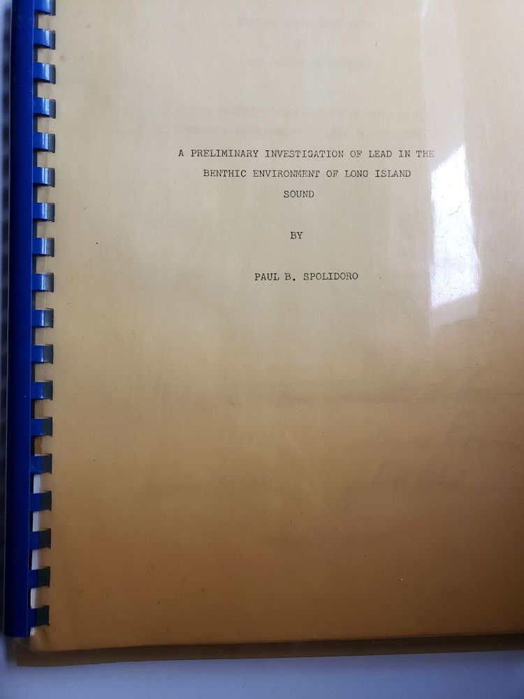 A Preliminary Investigation Of LeasIn The Benthic Environment Of Long Island Sound. Paul B. Spolidoro.