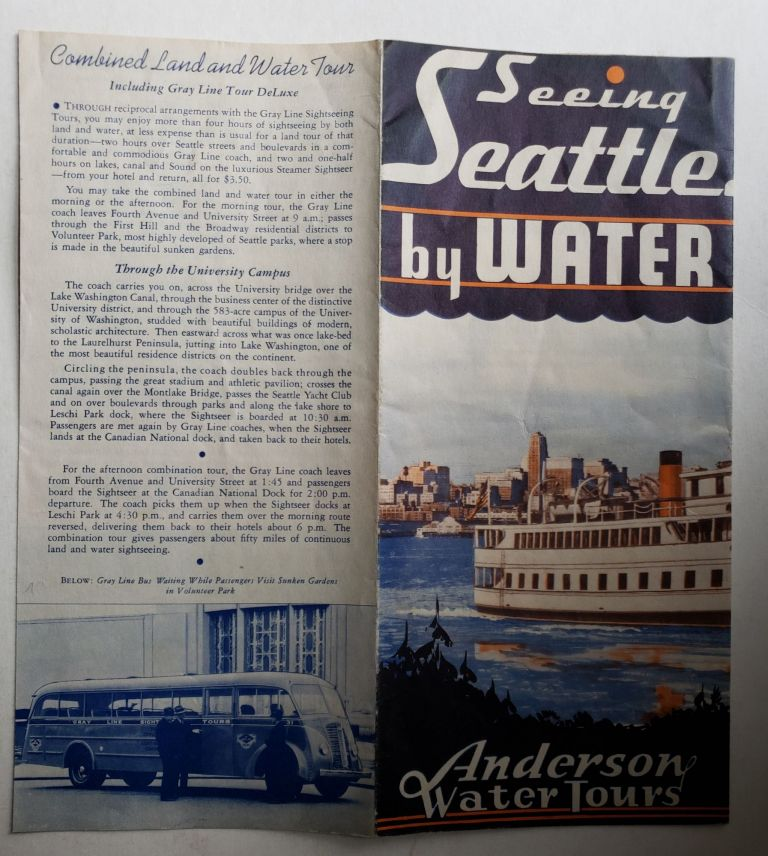 Seeing Seattle by Water. Anderson Water Tours.