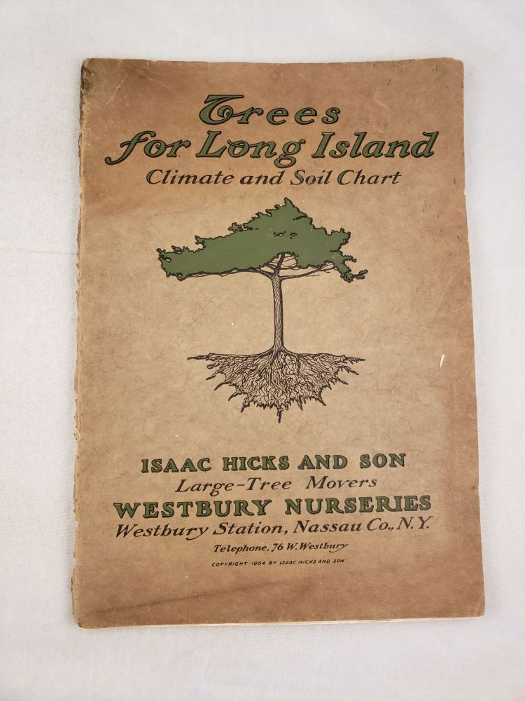 Trees for Long Island Climate and Soil Chart. Isaac Hicks and. Son.