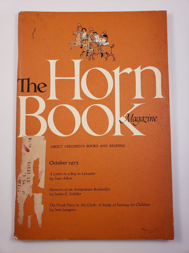 Horn Book Magazine. October, 1973. Paul Heins.