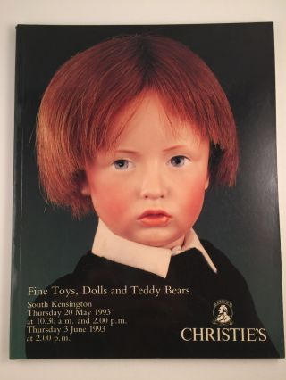 Fine Toys, Dolls and Teddy Bears. May 20th London: Christie's, 1993 June 3rd