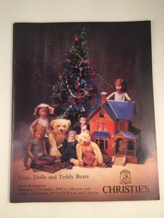 Toys, Dolls and Teddy Bears. Dec. 3rd London: Christie's, 1992 4th