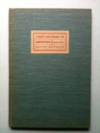 First Editions In American Juvenilia And Problems In Their Identification. Gustav Davidson.