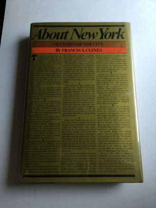 About New York: Sketches of the City. Francis X. Clines