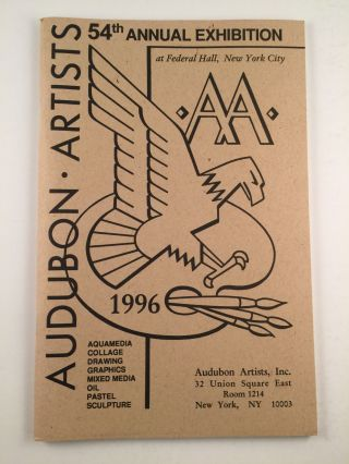 Audubon Artists 54th Annual Exhibition.Aquamedia Graphics Oil Sculpture. N/A.