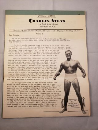 Health and Strength Course: Lesson 9 Exercises For Upper Arm. Charles Atlas