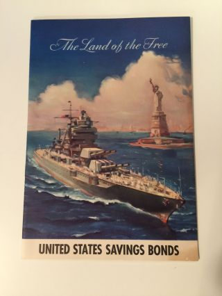 The Land Of The Free United States Savings Bonds. N/A