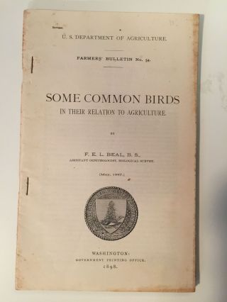 Some Common Birds In Their Relation To Agriculture. F. E. L. Beal.