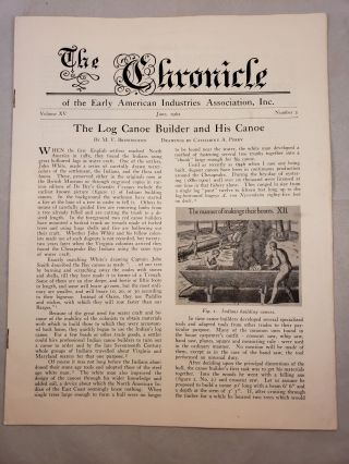 The Chronicle of the Early American Industries Association Volume XV Number 2 June 1962. W. D....