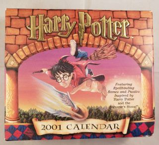 Harry Potter 2001 Calendar Featuring Spellbinding Scenes and Puzzles Inspired by Harry Potter and...