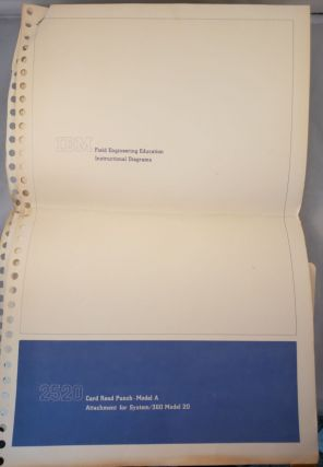 IBM Field Engineering Education Instructional Diagram 2520 Card Read Punch-Model A Attachment for...