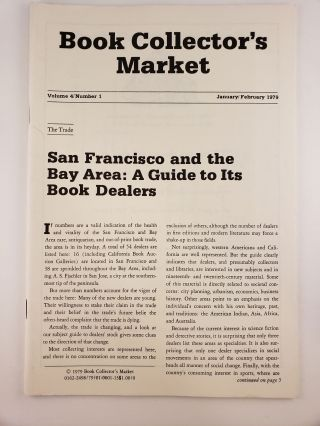 Book Collector's Market, Vol 4, No.1, January/February, 1979. Denis Carbonneau