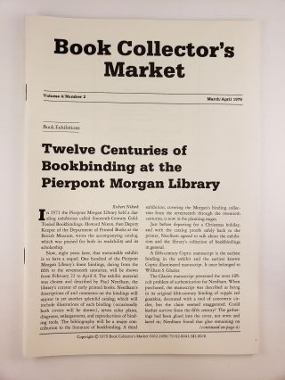 Book Collector's Market, Vol 4, No.2, March/April, 1979. Denis Carbonneau