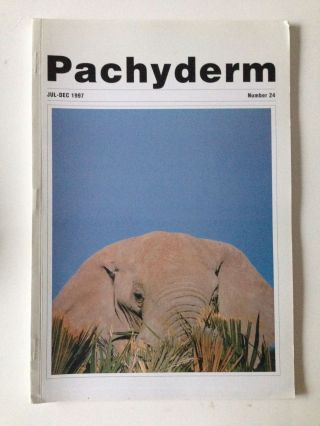 Pachyderm Number 24 July - December 1997. Greg Overton
