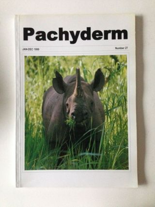 Pachyderm Number 27 January-December 1999. Martina Hoft