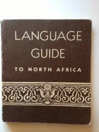 Language Guide To North Africa, War, Navy Departments