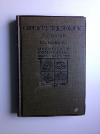 Commercial Correspondence and Postal Information. Carl Lewis Altmaier