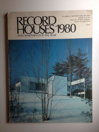 Record Houses And Apartments Of The Year 1980. Architectural Record