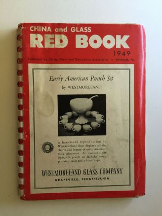 China and Glass Red Book 1949. NA.