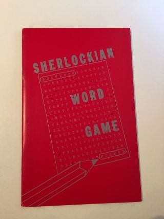 Sherlockian Word Game. Evelyn Byrne