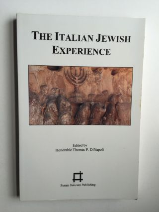 The Italian Jewish Experience Filibrary Series #21. Di Napoli Thomas P