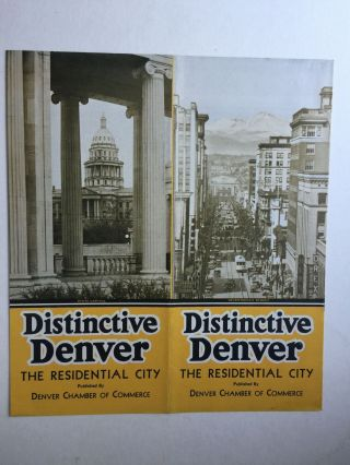 Distinctive Denver The Residential City. Denver Chamber Of Commerce