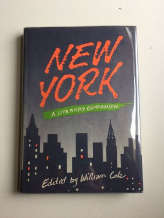 New York A Literary Companion. William Cole.