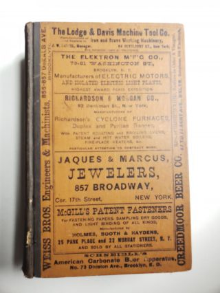 Lain's Brooklyn and Long Island Business Directory 1891 Containing Each Business, Trade and...
