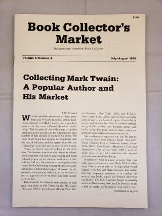 Book Collector's Market, Vol 4, No.4, July/August, 1979. Denis Carbonneau