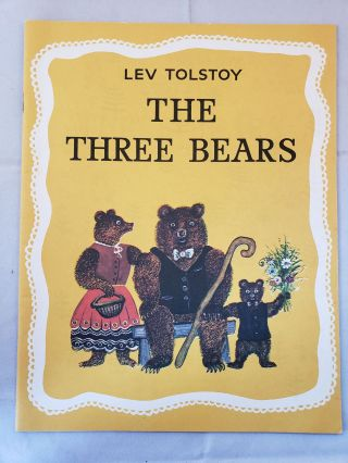 The Three Bears. Lev Tolstoy, Yuri Vasnetsov