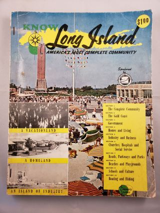 Know Long Island America's Most Complete Community January 1960 Vol. 1 No. 1. Pat publisher Powers.