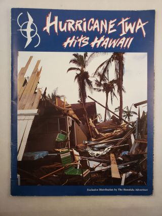 Hurricane Iwa Hits Hawaii xFirst printing in paper covers. Magazine format. 64 pp. Photographs....
