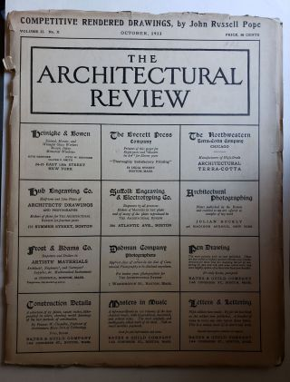 The Architectural Review, Volume II, No X October, 1913. Bates, Guild