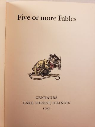 Five or More Fables