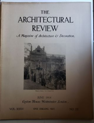 The Architectural Review. A Magazine of Architecture & Decoration Vol XXXV, No. 211, June 1914....
