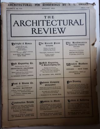 The Architectural Review, Volume II, No VIII, August, 1913. Bates, Guild