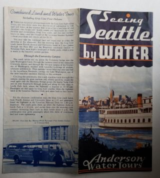Seeing Seattle by Water. Anderson Water Tours