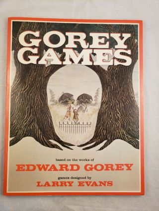 Gorey Games based on the works of Edward Gorey. Larry Evans, games, Edward Gorey