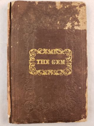 The Gem, Or Fashionable Business Directory For The City of New York 1844. N/A