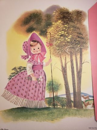 Mother Goose Nursery Pictures Decorative Prints in Full Color