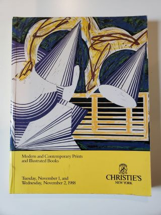 Modern and Contemporary Prints and Illustrated Books. Nov. 1 New York: Christie's, 1988 2