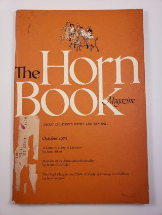 Horn Book Magazine. October, 1973. Paul Heins